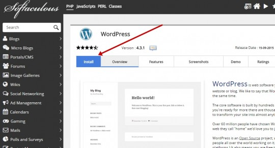 WordPress install 2