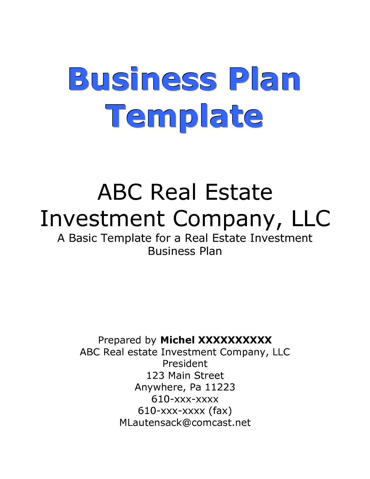 how to write business plan cover page for investors. Black Bedroom Furniture Sets. Home Design Ideas