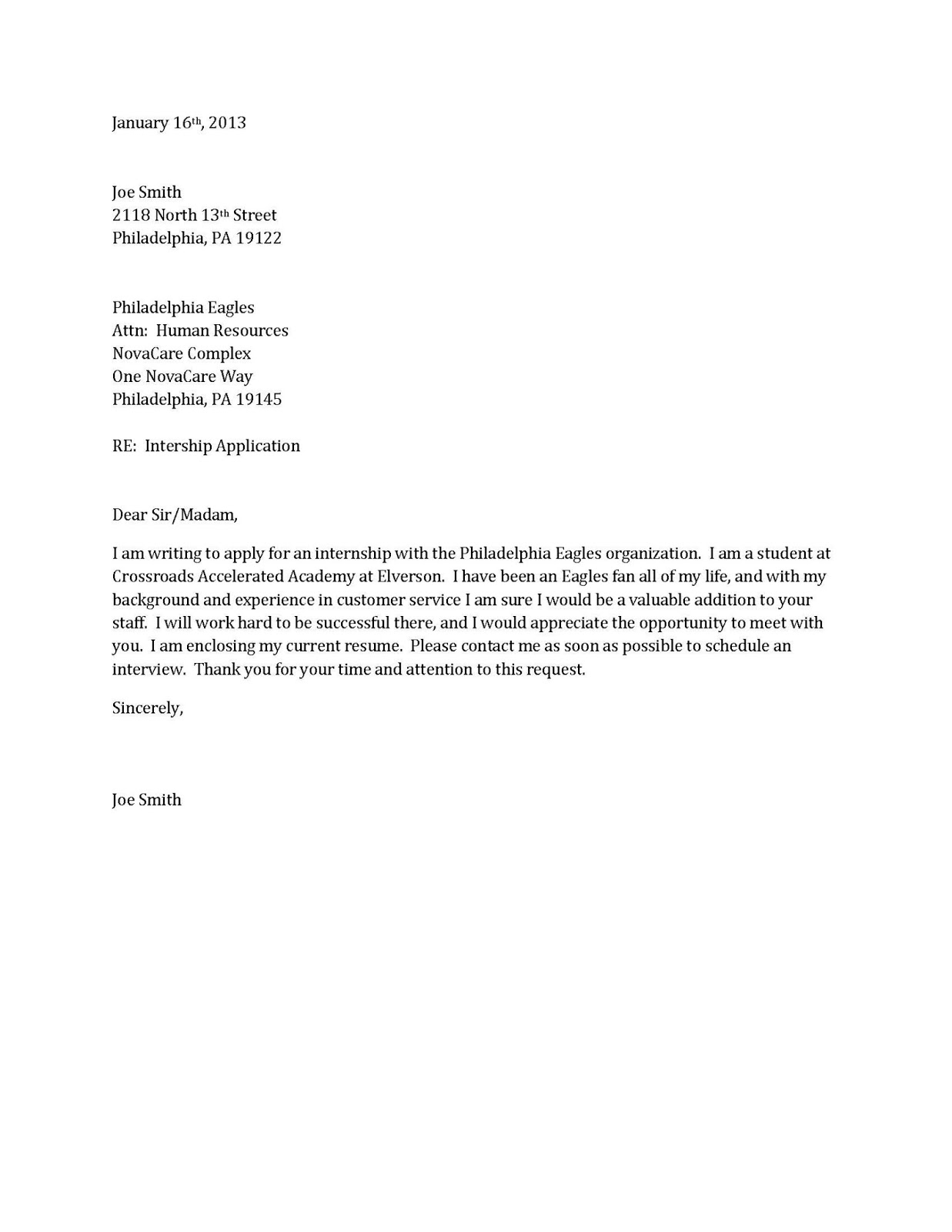 to make a cover letters