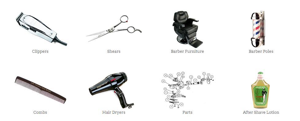 Barber Shop Equipment List with Names